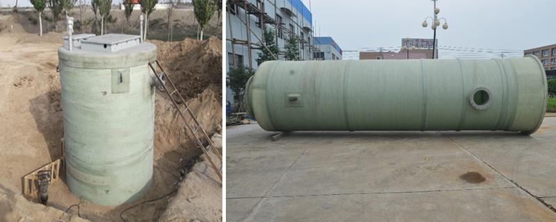 一體化預制泵站安裝現場